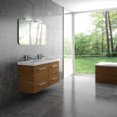 Έπιπλο μπάνιου με βάση σε λάκα και νιπτήρα